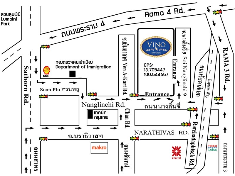 Map of Vino di Zanotti at Bangkok
